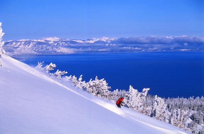 Skiing Heavenly's Powder