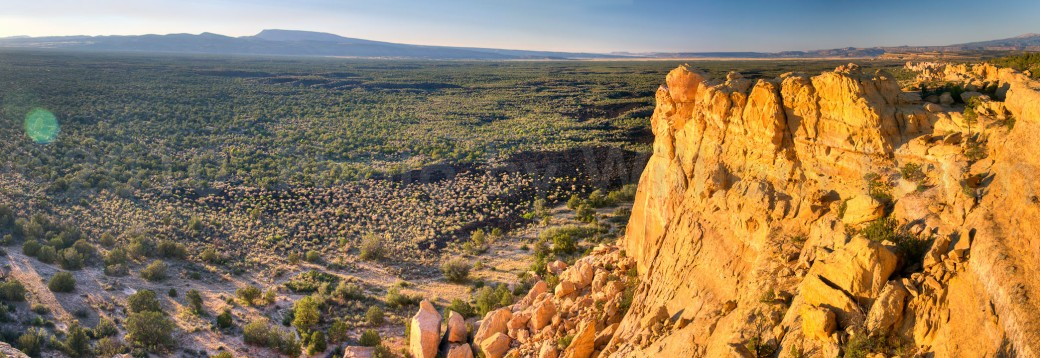 Sandstone Bluffs Overlook in El Malpais National Monument