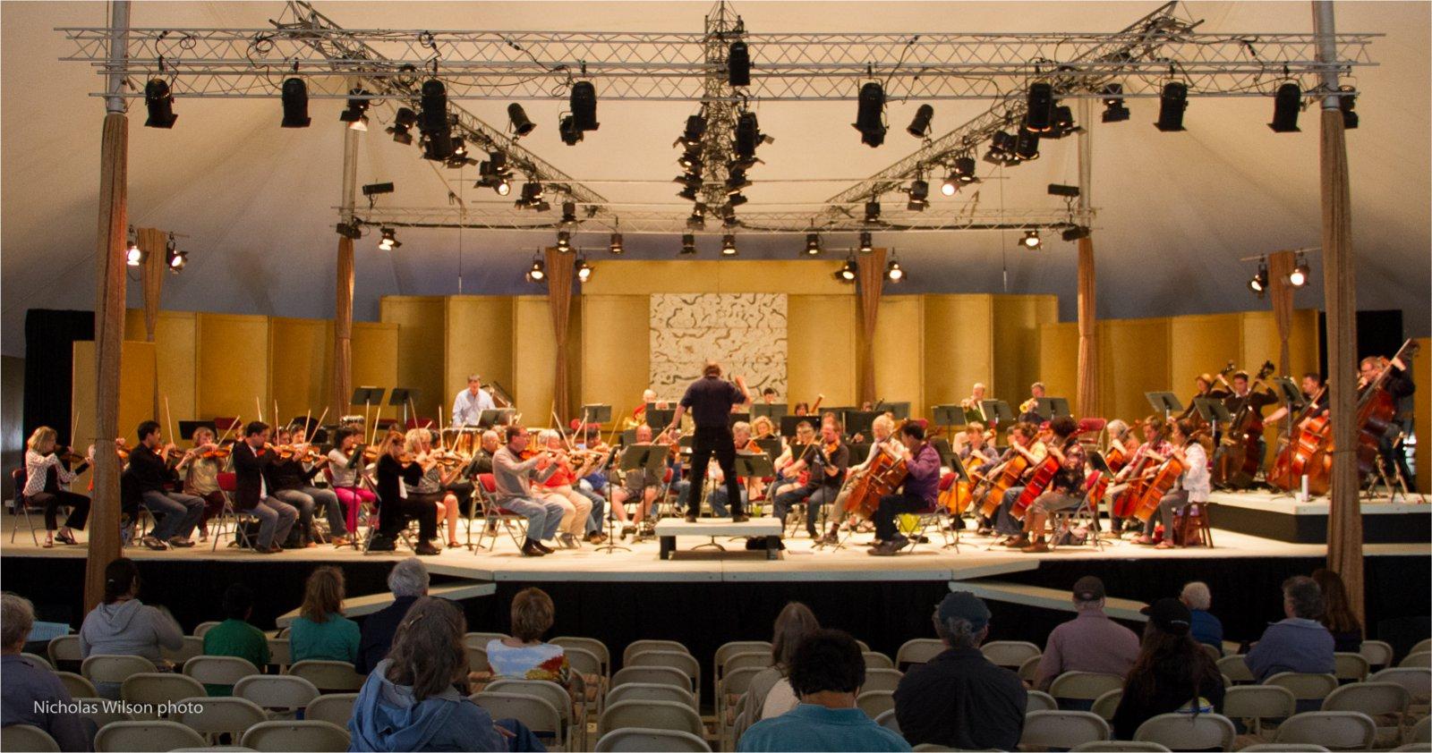 Orchestra rehearsal.