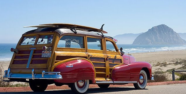 woodie-car-beach